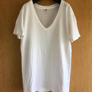 ヘインズ(Hanes)の80s Hanes V-Neck ヘインズ Vネック  tシャツ(Tシャツ/カットソー(半袖/袖なし))