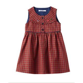 familiar - ファミリア 現行品 100 ジャンパースカート ワンピース