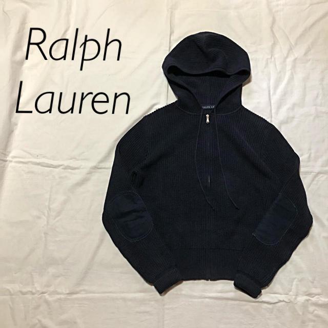 Ralph Lauren(ラルフローレン)のRalph Lauren ラルフローレン コットンニットパーカー レディースのトップス(パーカー)の商品写真