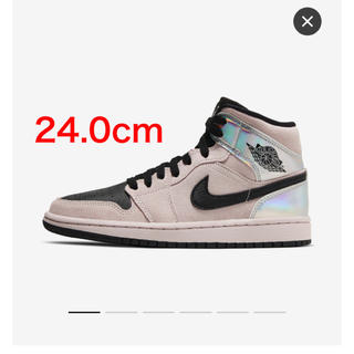 ナイキ(NIKE)のNIKE WMNS AIR JORDAN 1 MID Chrome (スニーカー)