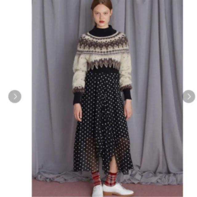 fur fur(ファーファー)のノルディックセータードレス レディースのワンピース(ロングワンピース/マキシワンピース)の商品写真