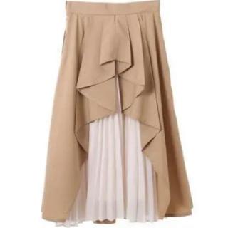 トランテアンソンドゥモード(31 Sons de mode)のバックプリーツデザインスカート(ロングスカート)