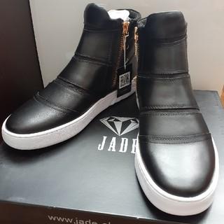 マドラス(madras)のJADE JD503 BLA 25.0cm スニーカー 革 ブラック 新品(ブーツ)