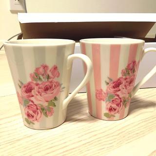ローラアシュレイ(LAURA ASHLEY)のローラアシュレイ ペアマグカップ(グラス/カップ)