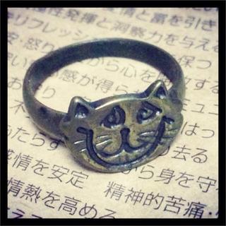 値下げ!猫のアンティーク風リング(リング(指輪))