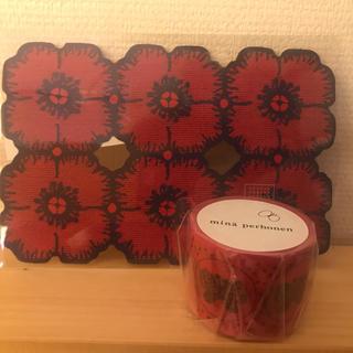 ミナペルホネン ポストカード & マスキングテープ mina  anemone