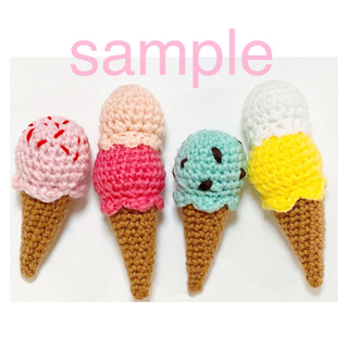 【sample】アイスクリーム/トッピング、ダブル(その他)