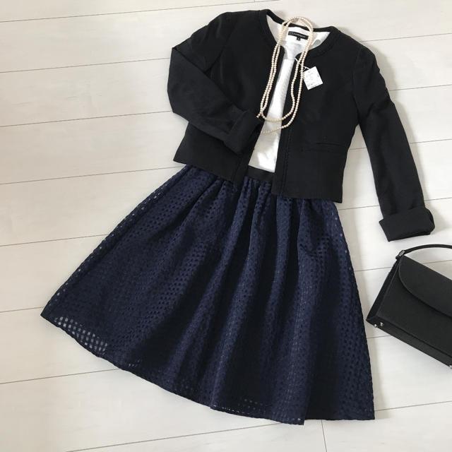 ef-de(エフデ)のエフデ  ノーカラー フォーマルスーツ セットアップ 組曲 23区 レディースのフォーマル/ドレス(スーツ)の商品写真