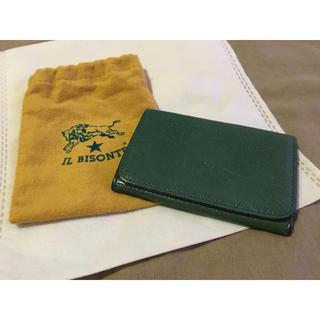 イルビゾンテ(IL BISONTE)の期間限定価格◆イルビゾンテ 正規品 イタリアンレザー カードケース 名刺入れ 緑(名刺入れ/定期入れ)