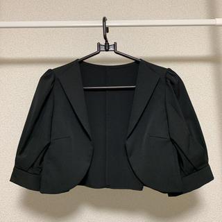 ボレロ ブラック パフスリーブ 襟付き
