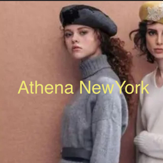 BARNEYS NEW YORK - アシーナニューヨーク  ベレー帽 グレー