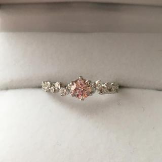ピンクダイヤ Fancy Light Purplish Pink リング 天然(リング(指輪))
