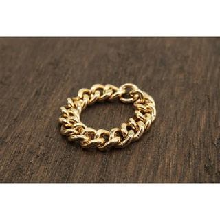 【T254】ピンキー 喜平 チェーン シンプル リング 指輪 3号 (リング(指輪))