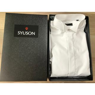 SYUSON タキシード用シャツ size L(40-86)1回着用のみ(シャツ)