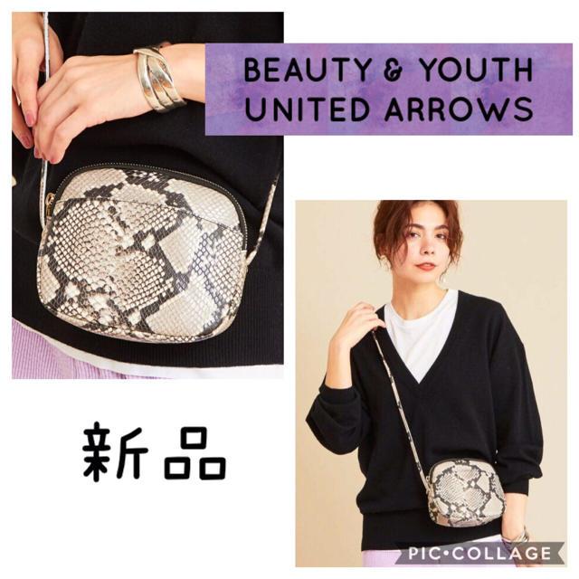 BEAUTY&YOUTH UNITED ARROWS(ビューティアンドユースユナイテッドアローズ)の新品 BY∴レザーミニジップショルダーバッグ パイソン柄 レディースのバッグ(ショルダーバッグ)の商品写真