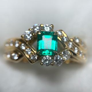 ポーラ(POLA)のPOLA エメラルド ダイヤモンド リング(リング(指輪))