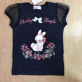 Shirley Temple - シャーリーテンプル☆うさぎTシャツ☆100ネイビー