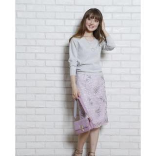 ジャスグリッティー(JUSGLITTY)のジャスグリッティー 刺繍レースタイトスカート(ひざ丈スカート)