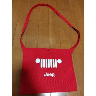 ジープ(Jeep)のジープサコッシュ赤(ショルダーバッグ)