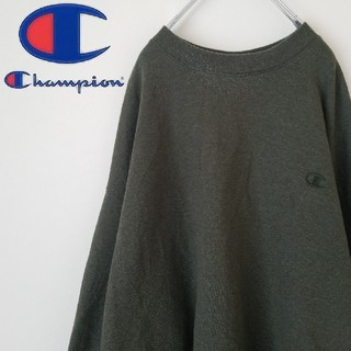 Champion - チャンピオン  超ビックサイズ スウェット  カーキ色  刺繍ロゴ