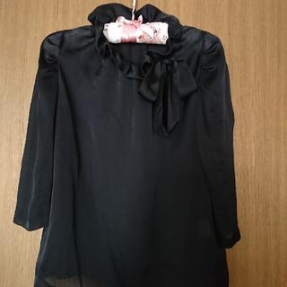ストロベリーフィールズ(STRAWBERRY-FIELDS)の🌟ストロベリーフィールズ🌟襟リボン ブラウス 黒(シャツ/ブラウス(長袖/七分))