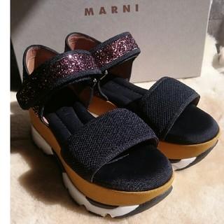 Marni - MARNI 厚底 グリッター サンダル 36 新品同様