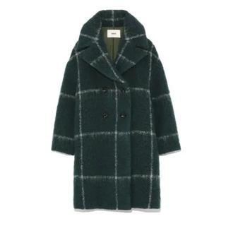 ファーファー(fur fur)の新品!FURFUR / ラインチェックコート /タグ付き 送料込み(ロングコート)