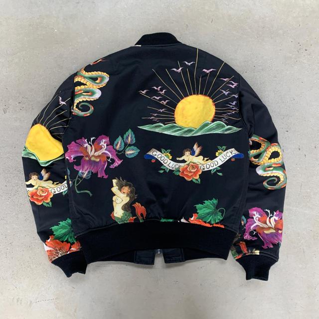 Yohji Yamamoto(ヨウジヤマモト)のヨウジヤマモト 03AW ピンプ期 タトゥー MA-1 ボンバージャケット メンズのジャケット/アウター(ブルゾン)の商品写真