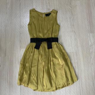 ジーユー(GU)のマスタード色 ドレス(ミディアムドレス)