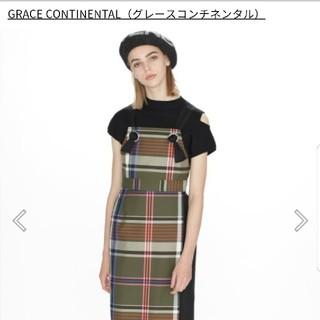 GRACE CONTINENTAL - グレース チェックジャンパースカート