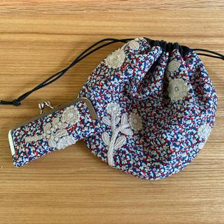 ミナペルホネン(mina perhonen)のミナペルホネン巾着S &印鑑ケースセット(その他)