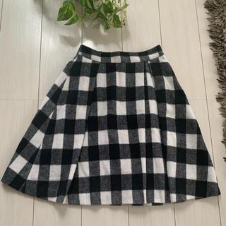 オペーク(OPAQUE)のオペーク 上品系ふんわりチェックタイトスカート!S〜M(ひざ丈スカート)