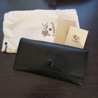 イルビゾンテ(IL BISONTE)の新品 イルビゾンテ 本革 レザー 財布  ウォレット 長財布 ブラック 黒(長財布)