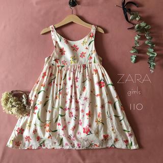 ザラキッズ(ZARA KIDS)のZARA girls ザラ|桜ピンク❁︎ :*:ワンピース*̩̩̥୨୧˖110(ワンピース)