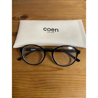 コーエン(coen)の【coen】伊達メガネ ブラック(サングラス/メガネ)