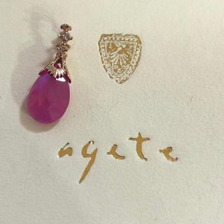 agete - K10ルビーチャーム