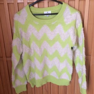 ランバンオンブルー(LANVIN en Bleu)のランバンの若草色の柔らかいセーター(ニット/セーター)