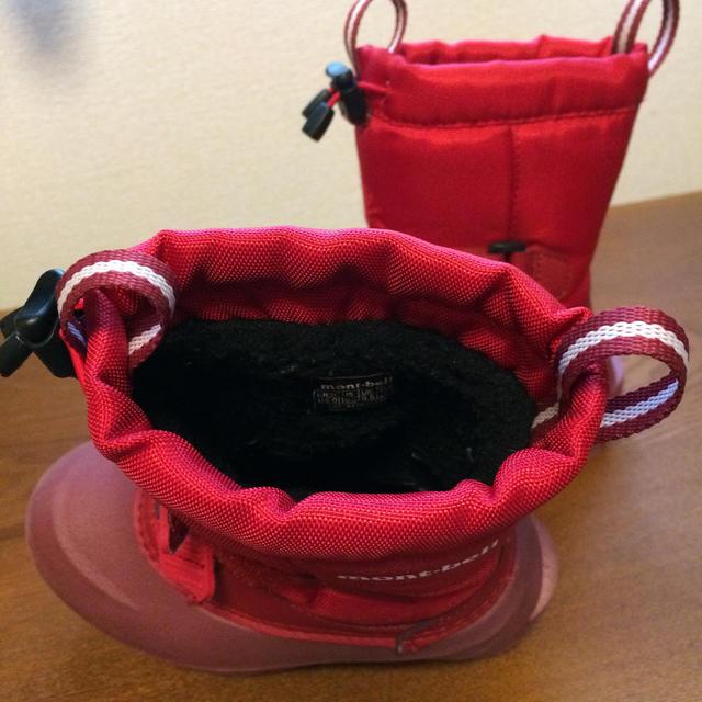 mont bell(モンベル)のmont-bell キッズ ウィンターブーツ 赤 16cm  キッズ/ベビー/マタニティのキッズ靴/シューズ(15cm~)(ブーツ)の商品写真