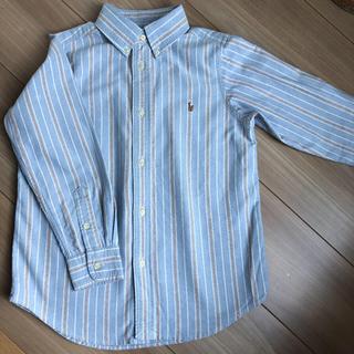 Ralph Lauren - ラルフローレン ストライプ ボタンダウン シャツ 長袖 120 130 ブルー