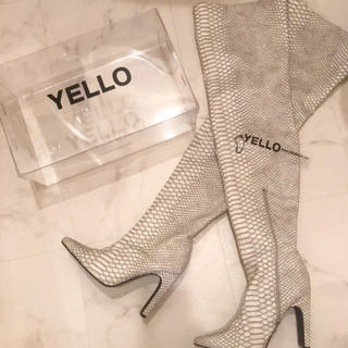 イエローブーツ(Yellow boots)のYELLO HAKU LONG BOOTS Mサイズ(ブーツ)
