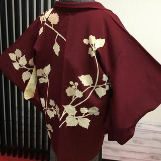 【羽織特集】アンティークの羽織 珍しい赤銅色