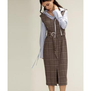 GRACE CONTINENTAL - ♡ GRACE CONTINENTAL チェックベルトジャンバースカート♡