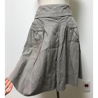 コントワーデコトニエ(Comptoir des cotonniers)のコントワーデコトニエ 麻のスカート グレージュ サイズ38(ひざ丈スカート)