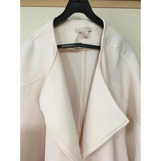 エイチアンドエム(H&M)のH&M スプリングコート 34サイズ ノーカラー ピンク(スプリングコート)