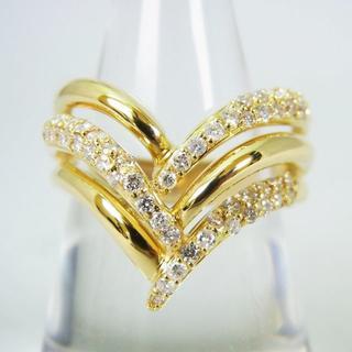 K18 ダイヤモンド リング 18号[g154-10](リング(指輪))