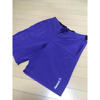リーボック(Reebok)の【格安】Reebokリーボック ハーフパンツ【激安】紫Lサイズメンズロゴ(ショートパンツ)