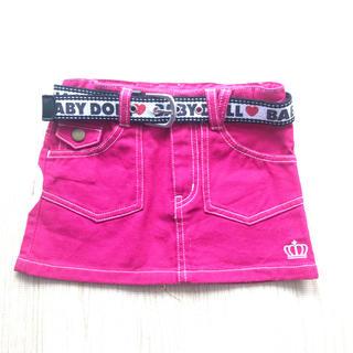 ベビードール(BABYDOLL)のBABY DOLLのピンクデニムスカート 100サイズ(スカート)