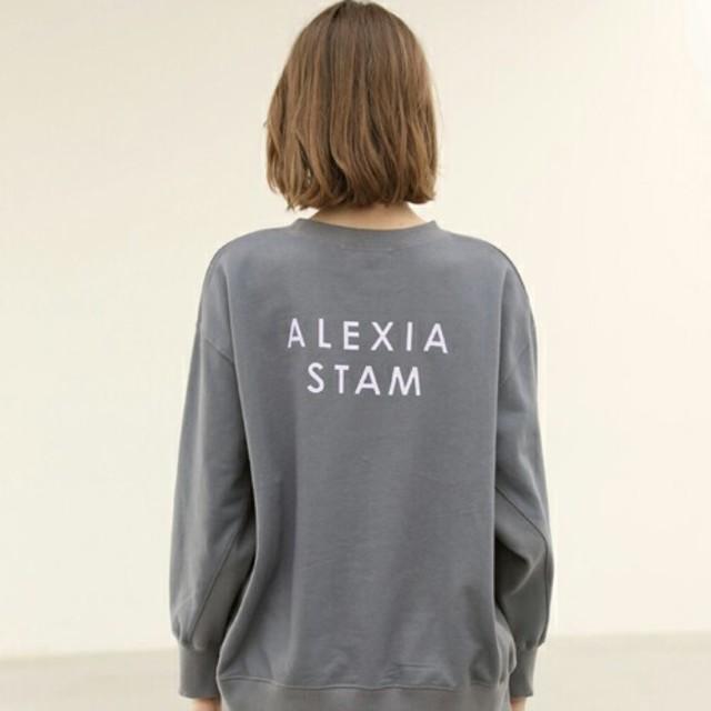 ALEXIA STAM(アリシアスタン)の!最終価格! ALEXIA STAM スウェット チャコール レディースのトップス(トレーナー/スウェット)の商品写真