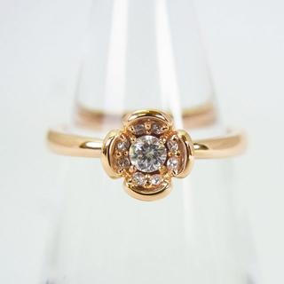 ヨンドシー(4℃)の4℃ K18ピンクゴールド ダイヤモンド リング 6号[g155-7](リング(指輪))