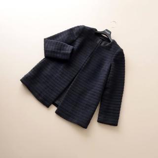 ANAYI - ■アナイ■ 36 アンゴラシャギー 黒 ミドル コート ANAYI